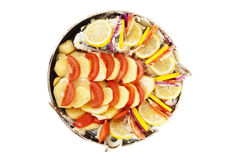 Haarder stuffed baked with potatoes and tomatoes Stock Image