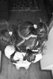 Haarendstücke stockbilder
