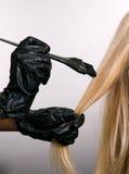 Haarfärbung Stockbild