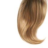Haarfragment über dem Weiß Stockfotografie