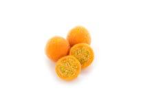 Haarige Aubergine, Nachtschatten ferlox auf Weiß Stockbild