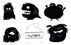Haarige Monsterikonen stock abbildung