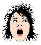 Haariges Mädchen Lizenzfreie Stockfotos