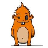 Haariges Monster der lustigen Karikatur Auch im corel abgehobenen Betrag lizenzfreie abbildung