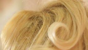 Haarkam hairstyle stock videobeelden
