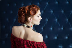 Haarkleid, Luxusart, elegantes Retro- Stockfotografie