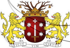 Haarlem Coat of Arms, Netherlands. Royalty Free Stock Photos