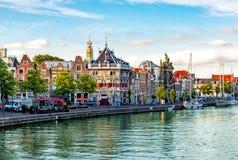 Haarlem kanały i architektura, holandie obrazy royalty free
