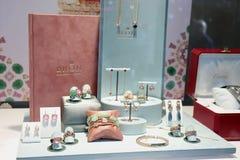 Haarlem, los Países Bajos - 6 de octubre de 2018: Bron Jewelry exclusivo imagen de archivo libre de regalías