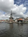 Haarlem młynu holandie Fotografia Stock