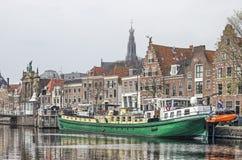 Haarlem nadbrzeże rzeki obrazy stock