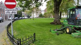 Haarlem nature recently mowed. Mowed by me nature grass Stock Photos