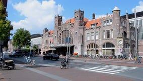 Haarlem railway station - oldest railway station in Netherlands,. HAARLEM - SEP 13: Haarlem railway station on September 13, 2014 in Haarlem, Netherlands stock footage