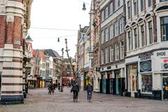 Haarlem street Royalty Free Stock Photos