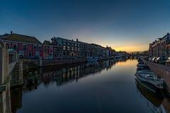 Haarlem sunset Royalty Free Stock Image