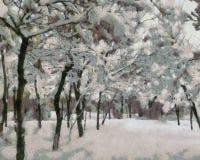Haarlok in sneeuw wordt behandeld die royalty-vrije illustratie