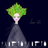 Haarpflege und Friseursalonillustration lizenzfreie abbildung