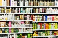 Haarpflegeprodukte redaktionell Lizenzfreie Stockfotografie