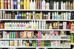 Haarpflegeprodukte redaktionell Stockbild