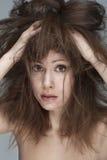 Haarproblem Stockbild