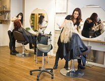 Haarsalonsituation Stockfotografie