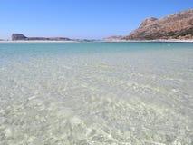 Haarscharfes Wasser in der Lagune Lizenzfreie Stockbilder