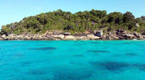 Haarscharfes Wasser in Lipe-Insel Lizenzfreie Stockfotografie