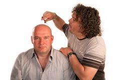 Haarschnitt durch null Lizenzfreies Stockfoto