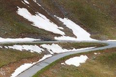 Haarspeldkromming in Maritieme Alpen, Frankrijk Royalty-vrije Stock Afbeelding