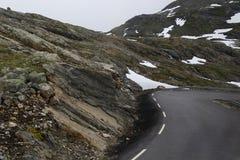 Haarspeldkromming in Noorwegen Royalty-vrije Stock Afbeelding