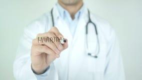 Haartransplantation, Hair Transplant in German Writing on Glass stock footage