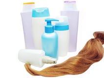 Haarwelle und -feuchtigkeitscreme Stockfoto