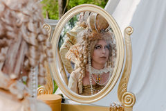 Costumed participant at the Fantasy Fair Royalty Free Stock Image