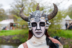 Man disguised as viking zombie at Fantasy Fair Stock Images