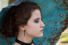 Portrait of a woman dressed up for the Fantasy Fair Stock Images
