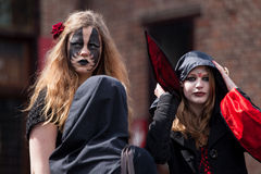 Two women drsessed up as witch at Fantasy Fair Stock Photography
