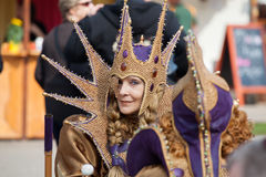 Woman dressed up as elf queen at Fantasy Fair Stock Photography