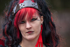 Woman drsessed up as witch at Fantasy Fair Stock Photos