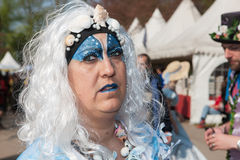 Woman drsessed up for Fantasy Fair Royalty Free Stock Image