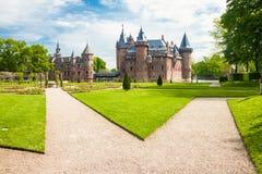 HAARZUILENS, NETHERLANDS - May 18, 2012: Castle de Haar with gar Royalty Free Stock Images