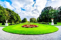 Magnificent Castle De Haar surrounded by beautiful manicured Gardens royalty free stock photo