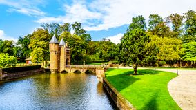 The Moat and and Entrance Gate of Castle De Haar royalty free stock photography