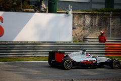 Haas Formula 1 at Monza driven by Romain Grosjean Stock Photography