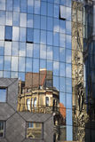 Haas Haus. Historic buildings mirrored on Haas Haus in Stephansplatz. Vienna stock photos