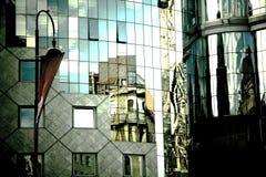 Haas Haus i Stephansplatz. Wien Fotografering för Bildbyråer
