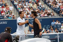 Haas Tommy and Moya Carlos at Rogers Cup 2008 18 Stock Photography