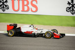 Haasformule 1 in Monza door Esteban Gutierrez wordt gedreven dat Royalty-vrije Stock Afbeelding