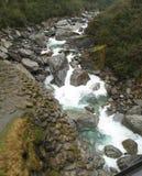 Haast flod Arkivfoto