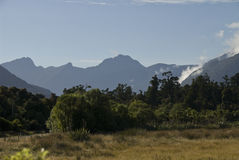 Haast Pass. Mountains surround the Haast Pass on the west coast, south island New Zealand Royalty Free Stock Photos