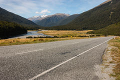 Haast Pass Highway in New Zealand Royalty Free Stock Image